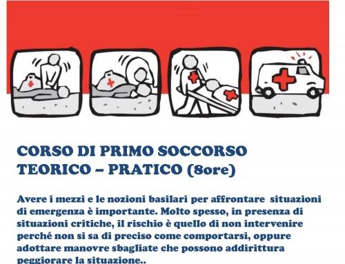 CORSO DI PRIMO SOCCORSO – 8 ORE